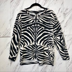 4/$30 H&M Zebra Print Long Sleeve Top